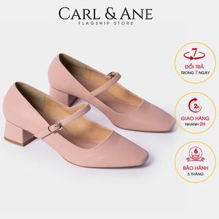 Carl & Ane - [Form lơ n lu i 1 size] Gia y cao go t thời trang nư mu i vuông phô i dây cao 5cm màu hô ng _ CP003 thumbnail