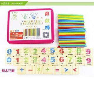 Đồ chơi gỗ-Bộ toán học que đếm đa năng cho bé