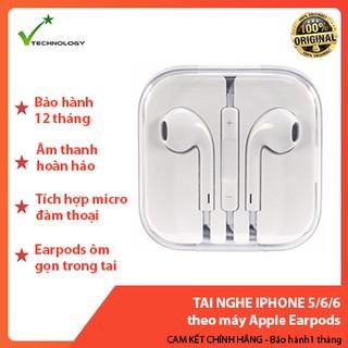 Tai nghe iPhone 5/6/6+ theo máy Apple Earpods - Bảo hành 12 tháng