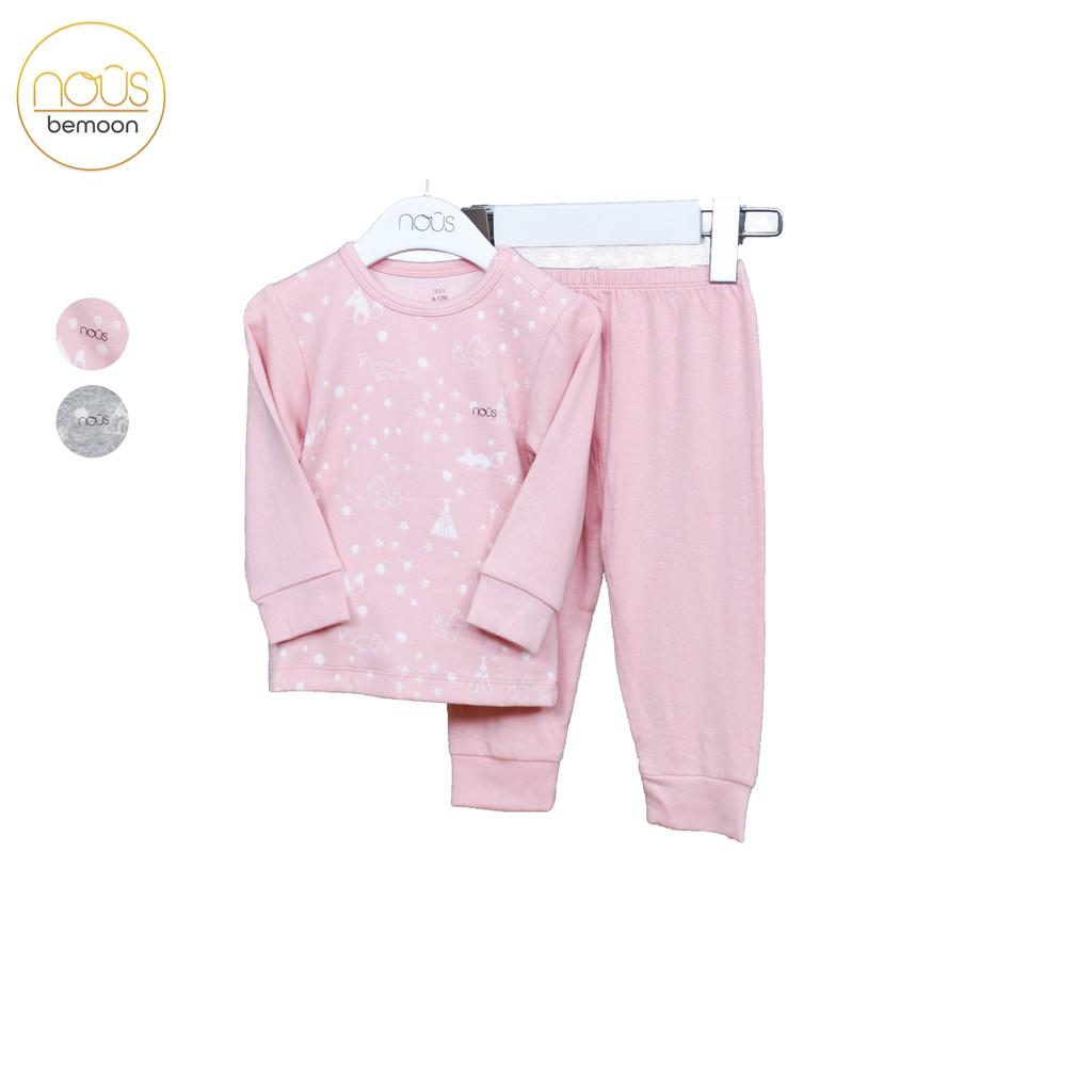 Bộ quần áo cài vai Nous Velours cáo hồng đào ( 9-24 tháng )