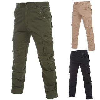 Men's camouflage pants, self-cultivation overalls, multi-bag outdoor pants 7102