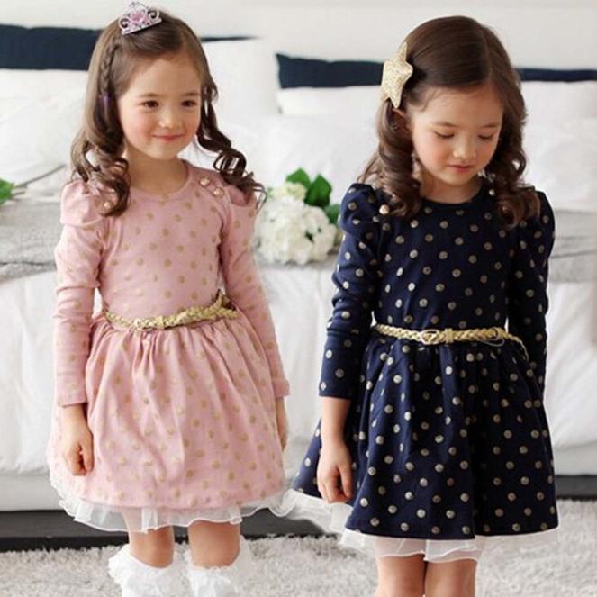 Đầm công chúa chấm bi thắt lưng cho bé gái - 14206348 , 2520562508 , 322_2520562508 , 280000 , Dam-cong-chua-cham-bi-that-lung-cho-be-gai-322_2520562508 , shopee.vn , Đầm công chúa chấm bi thắt lưng cho bé gái