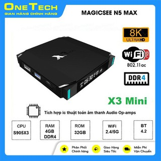 Android TV box Eachlink X3 mini Ram 4GB, bộ nhớ trong 32GB, Android 9.0