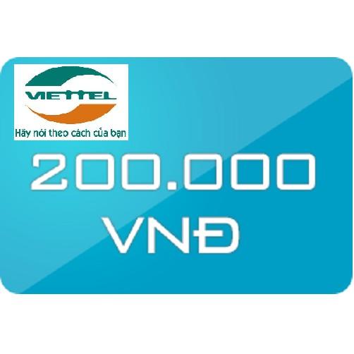 Thẻ nạp điện thoại Viettel 200k