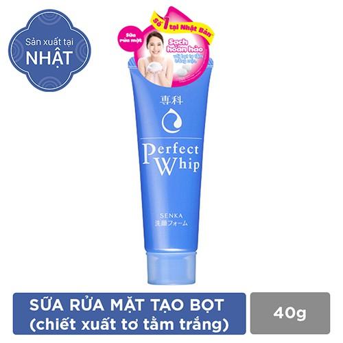 Sữa rửa mặt tạo bọt chiết xuất tơ tằm trắng Senka Perfect Whip 40g - 4901872447404 - 3263331 , 366070748 , 322_366070748 , 39000 , Sua-rua-mat-tao-bot-chiet-xuat-to-tam-trang-Senka-Perfect-Whip-40g-4901872447404-322_366070748 , shopee.vn , Sữa rửa mặt tạo bọt chiết xuất tơ tằm trắng Senka Perfect Whip 40g - 4901872447404