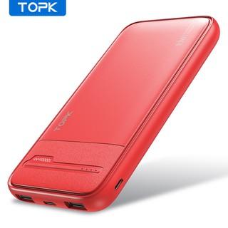 Pin dự phòng sạc nhanh I1016 10W QC2.0 PD TOPK 10000mah Có IC Chống Quá Dòng Quá Tải Bảo Hành Chính Hãng 12 Tháng