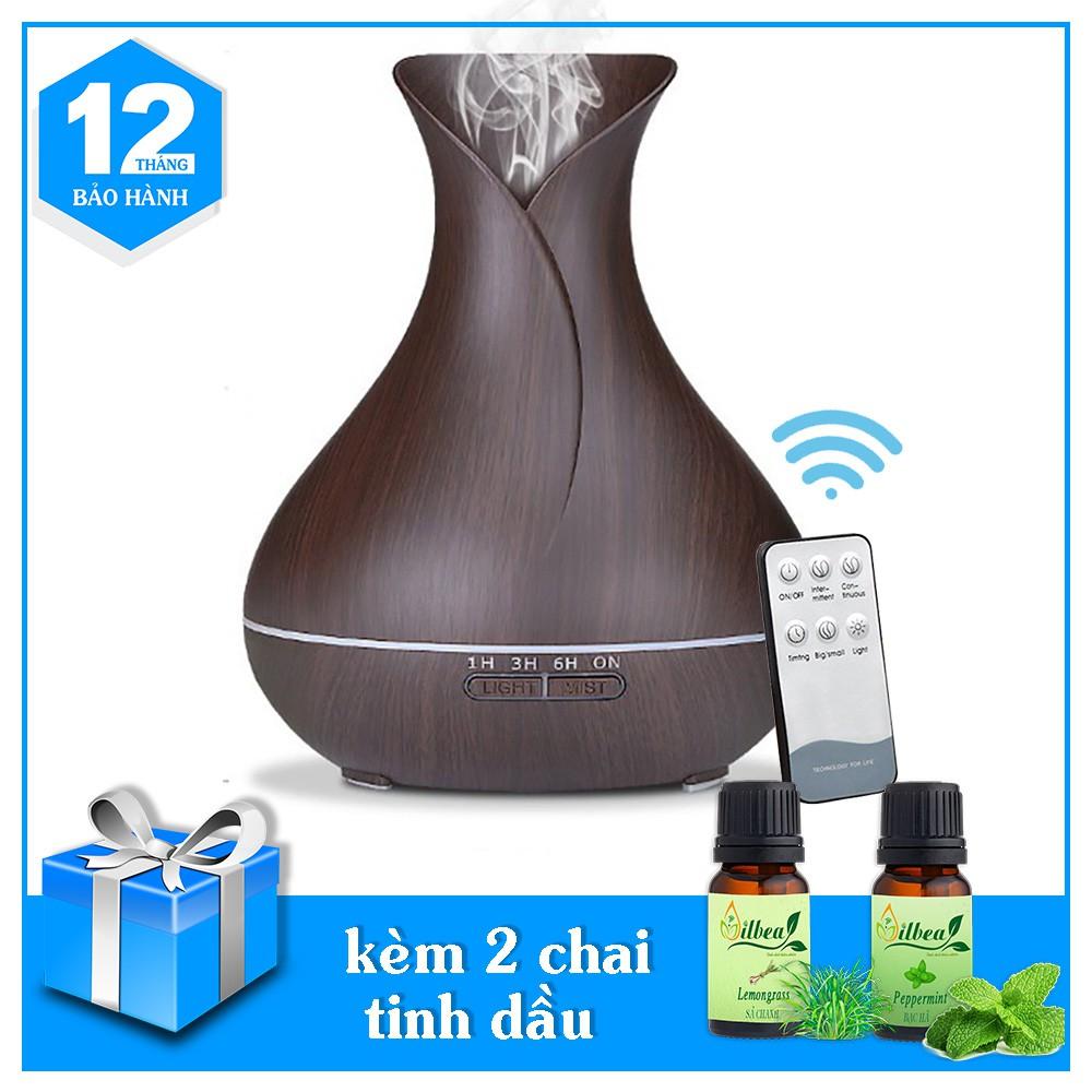 Máy Xông Tinh Dầu Tulip Tích Hợp Remote Kèm 2 Chai Tinh Dầu 10ml