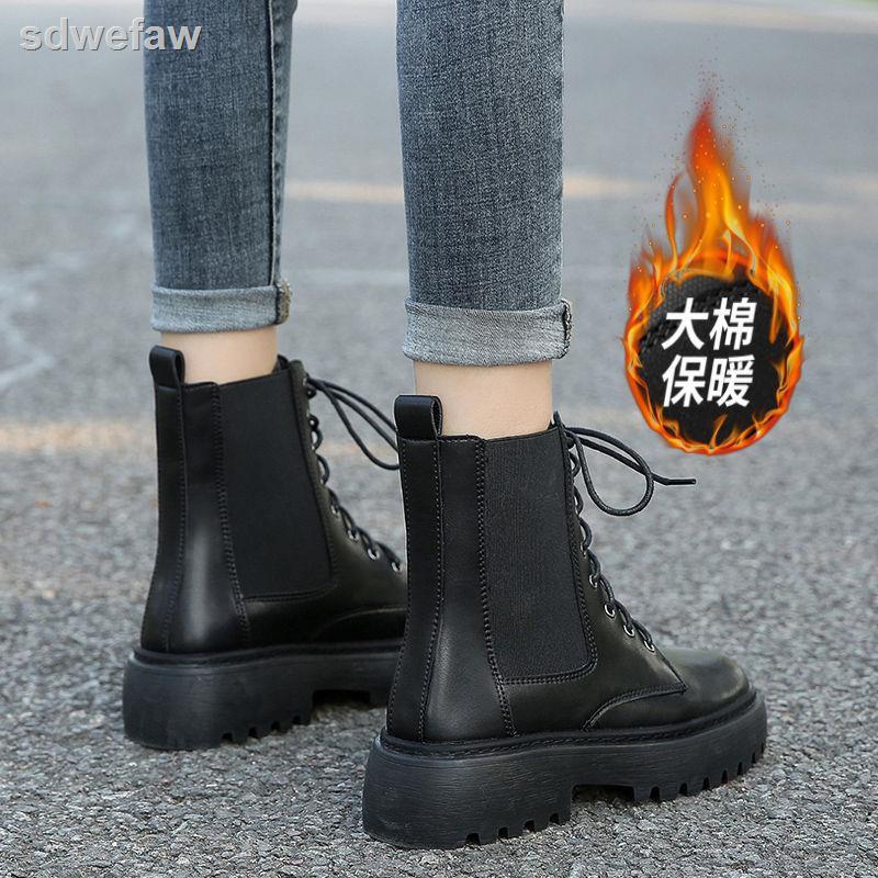 Giày boot martin đế dày thiết kế mới thời trang theo phong cách anh dành cho nữ