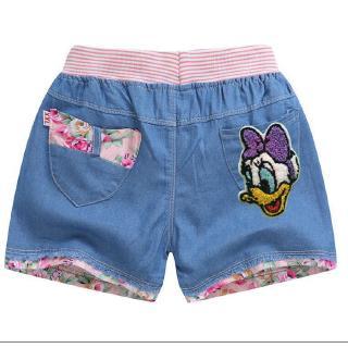 Quần short jean mềm mại dành cho bé gái 3-8 tuổi