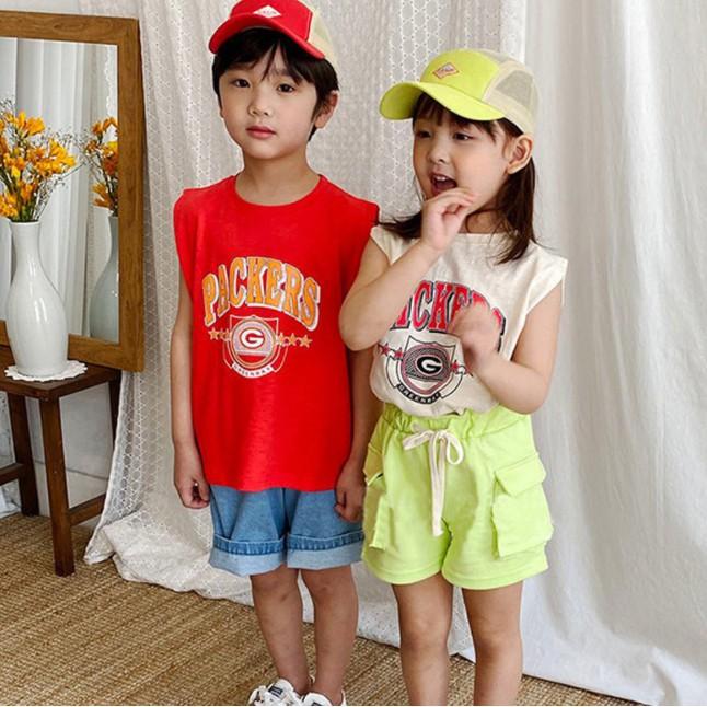 Áo thun tanktop Packers thời trang mùa hè cho bé A475
