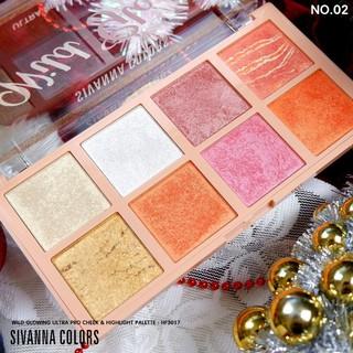 Bắt sáng Sivanna Colors Wild Glowing HF3017 8 ô thumbnail