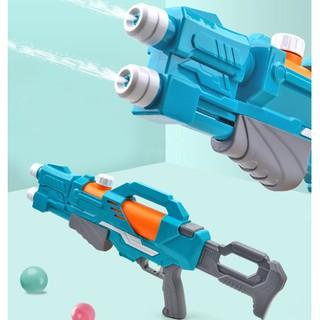Súng bắn nước đồ chơi 2 nòng 2 tia - Đồ chơi súng nước áp lực, bắn xa , đồ chơi hồ bơi, đi biển cực hot thumbnail