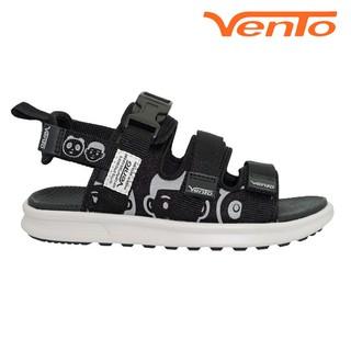 Giày Sandal Vento Nữ NB80 Màu Đen Họa Tiết Streetstyle thumbnail