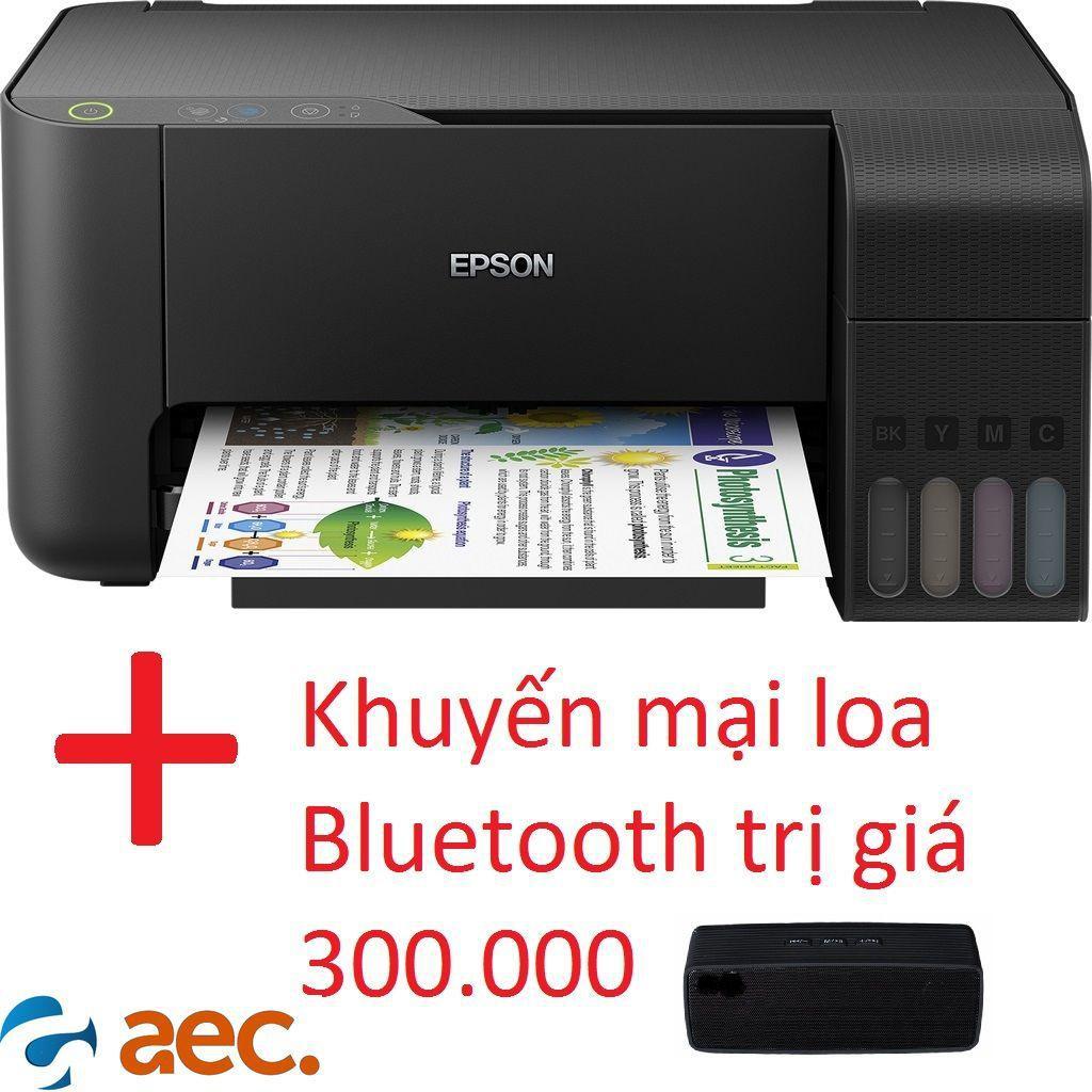 Máy in phun màu EPSON L3110 MODEL 2019(in,scan,copy)sử dụng mực Hàn Quốc+ Tặng kèm khuyến mại loa bluetooth trị giá 300k