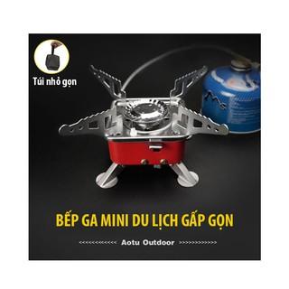 Bếp Gas Mini Du Lịch Dã Ngoại Xếp Gọn Kèm Dây Nối Bình Gas - Bếp Gas Đi Phượt Cắm Trại thumbnail