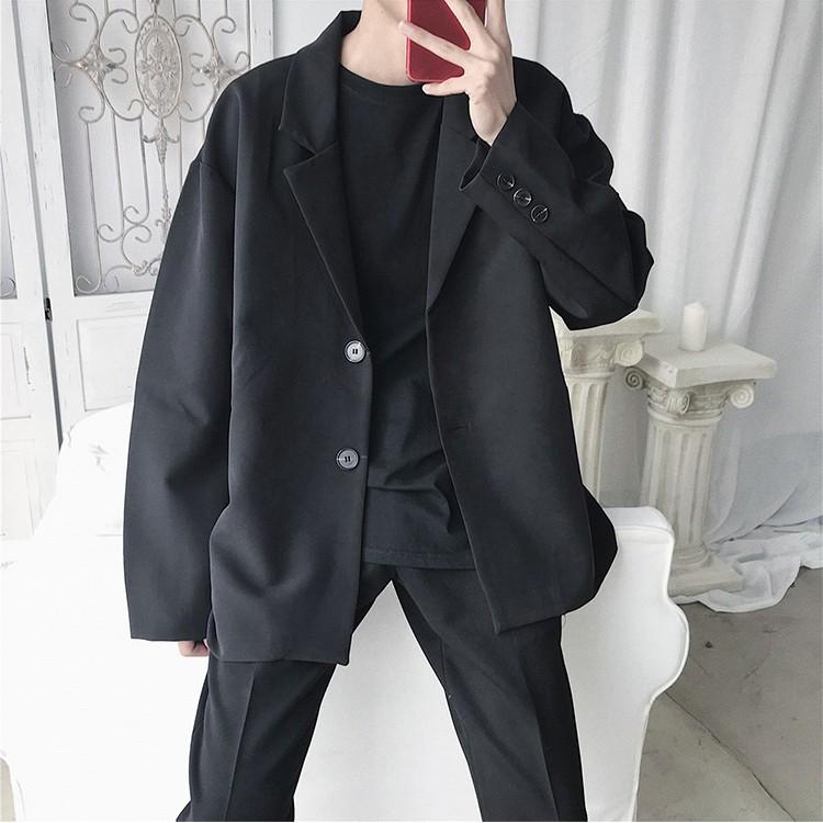 Áo khoác Nam, Áo Blazer Nam Form Rộng phong cách Hàn Quốc BZ01 MrHero
