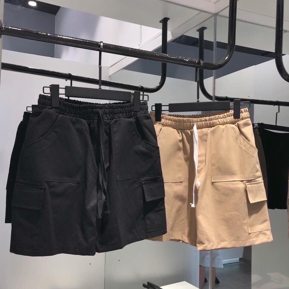 Quần short túi hộp kaki dành cho nam nữ QN003 sỉ 47k