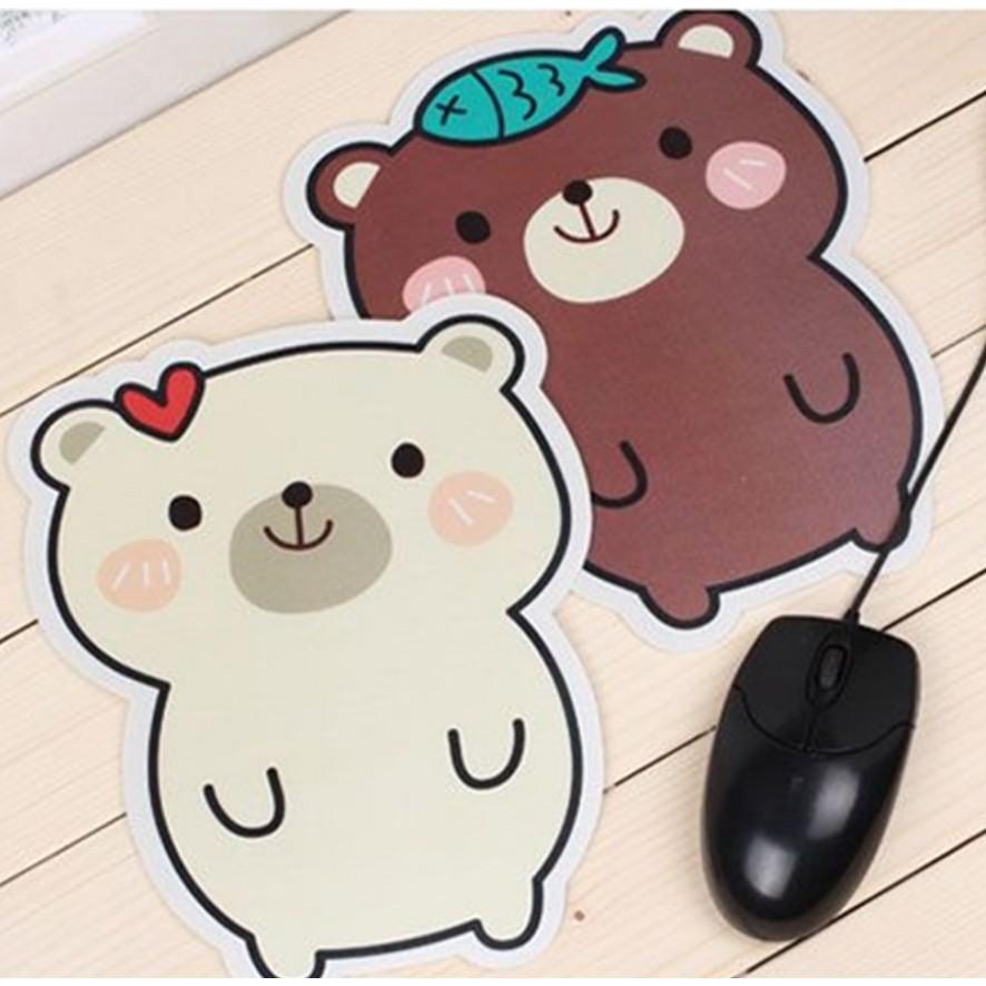 Bàn di chuột( Miếng lót chuột) hình gấu dễ thương 17*22CM