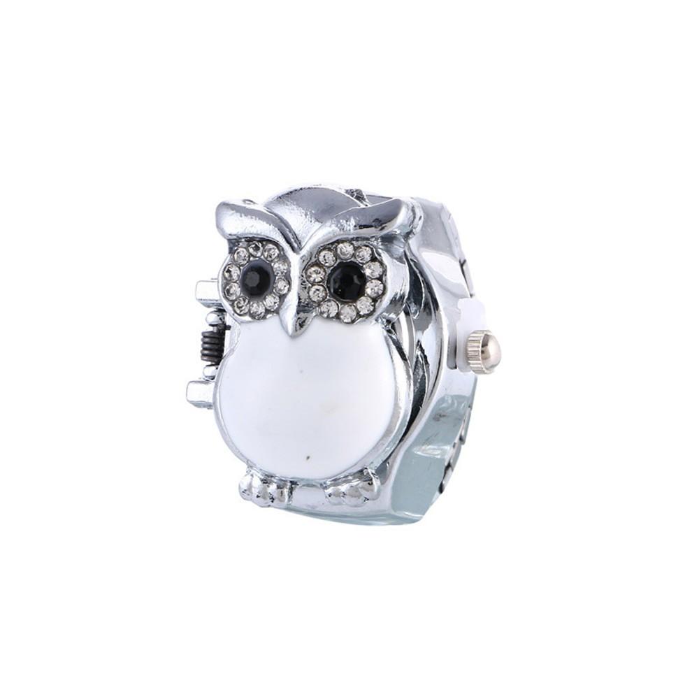 Nhẫn đồng hồ quartz hình cú mèo dễ thương