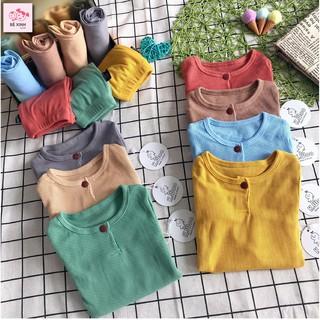 Bộ gân tăm thun tăm cho bé gái bé trai dài tay K.woo [Sale lớn] Quần áo mùa thu đông gân tăm thun tăm cho bé gái bé trai