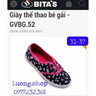 Giày vải bitas bé gái GVBG52