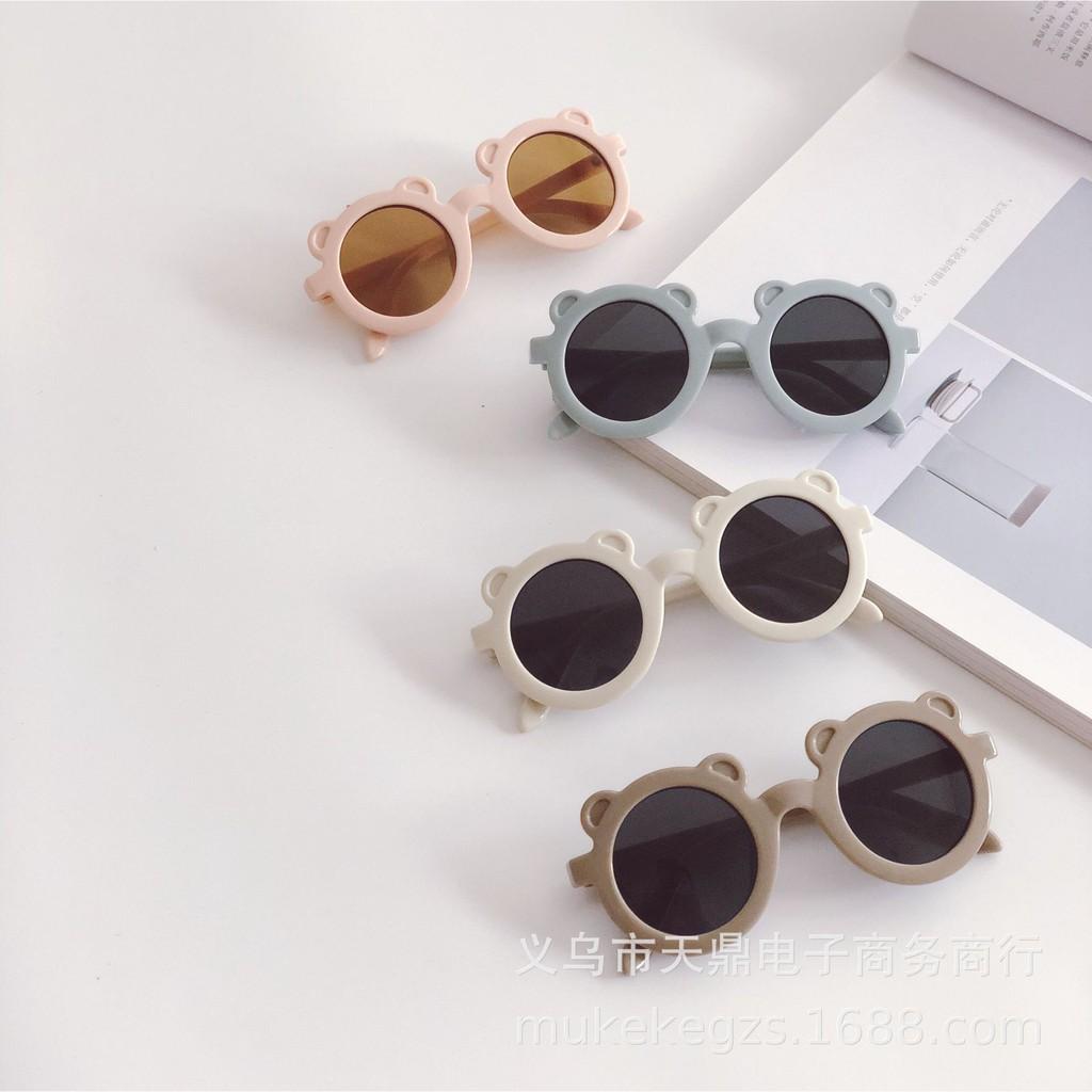 mắt kính tròn tai gấu cho bé mẫu new 2021 chuẩn loại 1 uv 400 có tem kiểm định