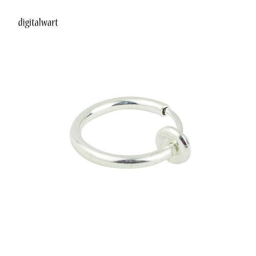 Khuyên tai tròn thiết kế đơn giản dùng để xỏ tai/mũi/môi cá tính trẻ trung cho nam và nữ