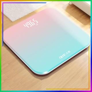 Cân Điện Tử Khỏe Điện Tử Mini Màn Hình LCD Mặt Kính Chịu Lực Tải Trọng 180kg Sặc USB hoặc Dùng Pin