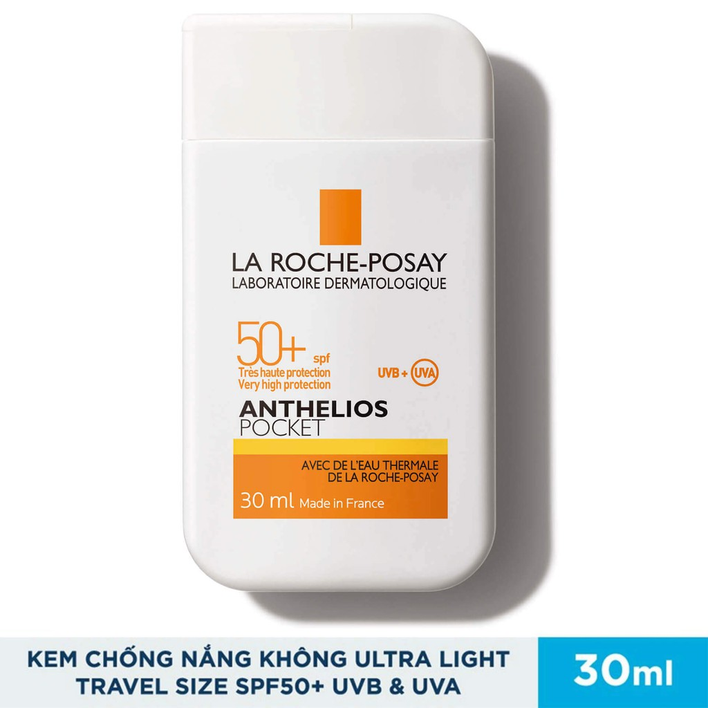 La Roche-Posay Anthelios Pocket SPF50+ UVA & UVB - Kem Chống Nắng Không Gây Nhờn Rít (30ml)