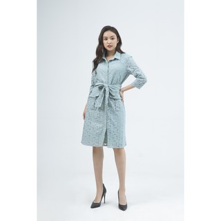 Ivy moda Đầm 2 lớp cổ đức kèm đai MS 48M4994 thumbnail