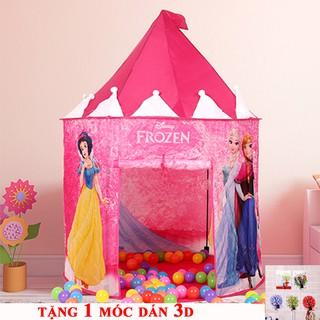 Lều công chúa elsa mẫu mới 2018 tặng kèm 1 móc dính 3D