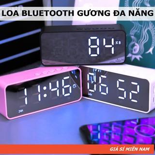 [Mã ELFLASH5 giảm 20K đơn 50K] G50 Loa Gương Bluetooth | Đài FM - Tích Hợp Đồng Hồ - Màn Hình Gương