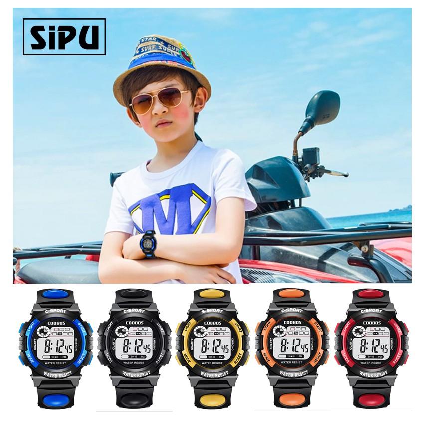 Đồng hồ trẻ em coobos 0118 có đèn Led 7 màu