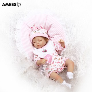 🔅🔆AMEESI 40cm Reborn Baby VinylDoll Toy with Bee Print Clothes