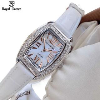 Đồng Hồ Nữ Chính Hãng Dây Da Royal Crown 3635 Chống Nước Chống Xước thumbnail