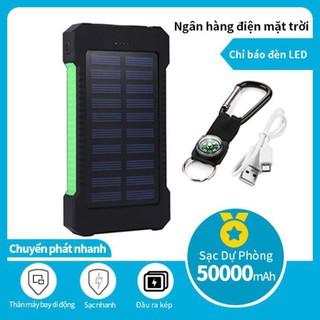 Pin sạc dự phòng năng lượng mặt trời, bin sạc dự phòng 30000mAh – Pin phone – có đèn pin