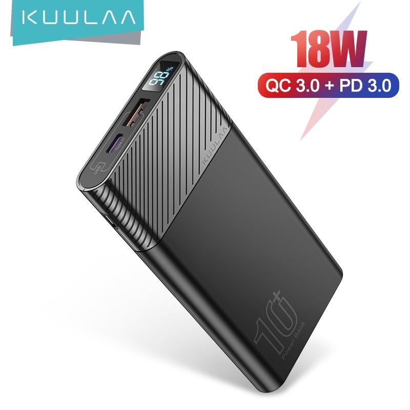 Sạc dự phòng KUULAA hiển thị màn hình Kl-Yd11 18w Qc3.0 10000mah