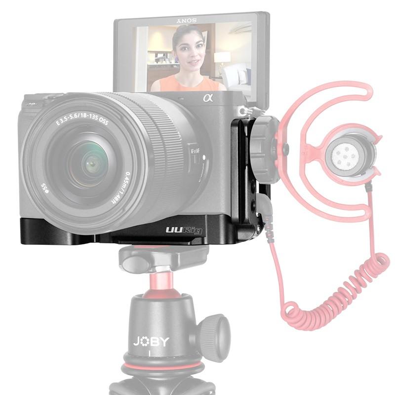 Giá đỡ máy ảnh thiết kế kiểu chữ L dùng cho SONY A6400 tiện dụng