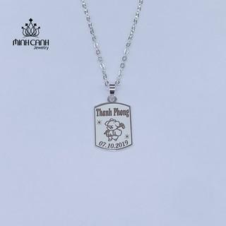 Dây Chuyền Thẻ Bạc Khắc Tên Miễn Phí Cho Bé - Minh Canh Jewelry