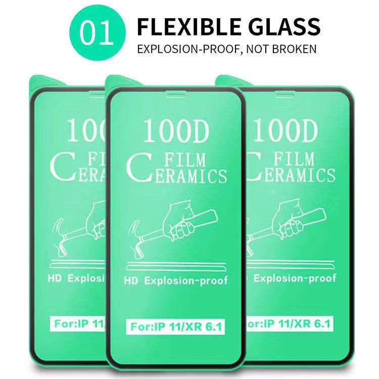 Kính Cường lực dẻo Full Màn Iphone 6 Plus --> 12 Promax - Fullbox