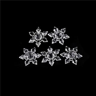 [BEW] 5Pcs Crystal Clear Acrylic Snowflakes Snowflake Ornaments Party Christmas Deco [OL]