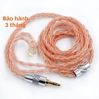 [NC] Dây Cáp nâng cấp tai nghe KZ BLON | Đồng nguyên chất 4N 8 Core High Oxygen | tăng bass | EDM ,Dance , Hip Hop, Rock
