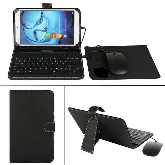 Bàn phím chơi game, Bao da bàn phím kèm chuột có dây sử dụng cho điện thoại, ipad, máy tính...
