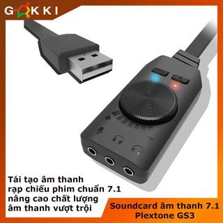 Card âm thanh – Sound card âm thanh 7.1 cho máy tính PC Plextone GS3 – chuyên game – phim