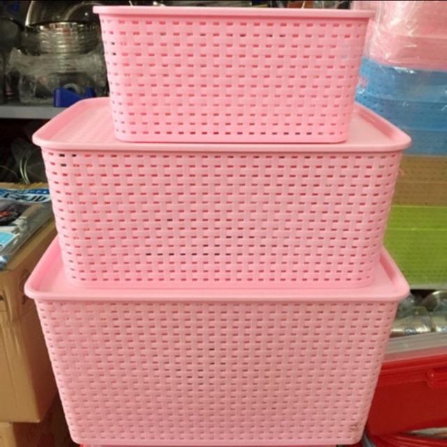 Giỏ đựng đồ giả mây phong cách Hàn Quốc/ Song Long thùng nhựa đan đủ size nhiều mầu - 14373859 , 2701655361 , 322_2701655361 , 35000 , Gio-dung-do-gia-may-phong-cach-Han-Quoc-Song-Long-thung-nhua-dan-du-size-nhieu-mau-322_2701655361 , shopee.vn , Giỏ đựng đồ giả mây phong cách Hàn Quốc/ Song Long thùng nhựa đan đủ size nhiều mầu