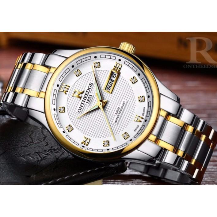 Đồng hồ nam ONTHEEDGE 1853 RZY025 - Mặt trắng, dây demi