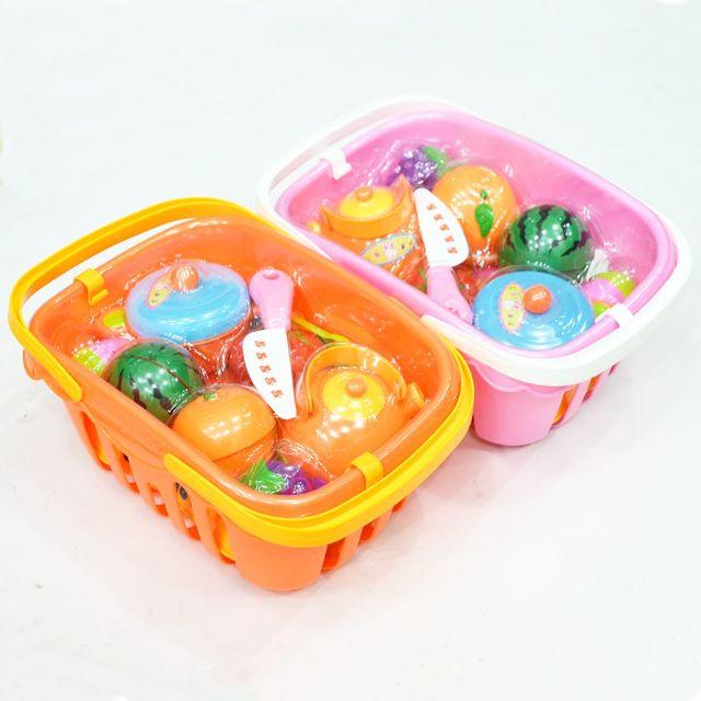 Bộ đồ chơi hoa quả cắt ghép