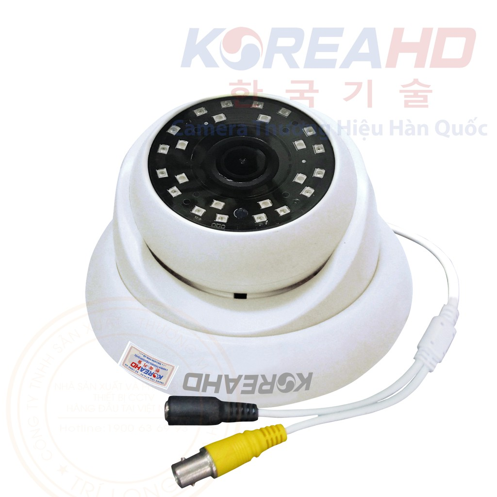 Camera KoreaHD Dome Sắt AHD 2.0MP Mẫu 2