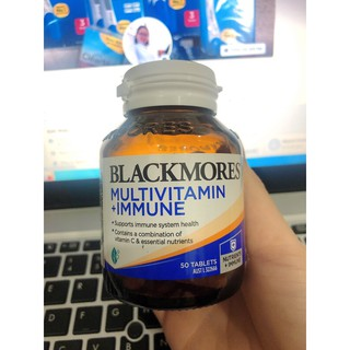 Viên uống bổ sung vitamin và tăng cường hệ miễn dịch Blackmores Multivitamin+Immune 50 viên