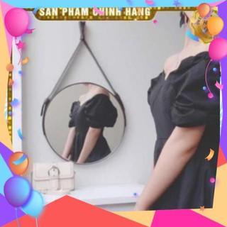 [Giá Hủy Diệt] Gương tròn viền dây da treo tường – HomeDecor360